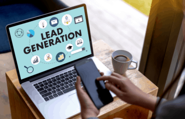 lead generation on computer screen