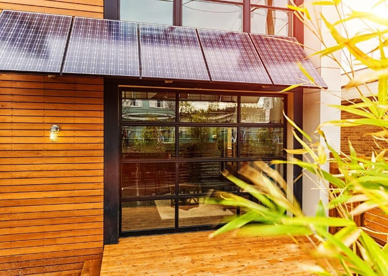 eco friendly home with solar panels