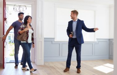 south carolina real estate agent showing home to couple