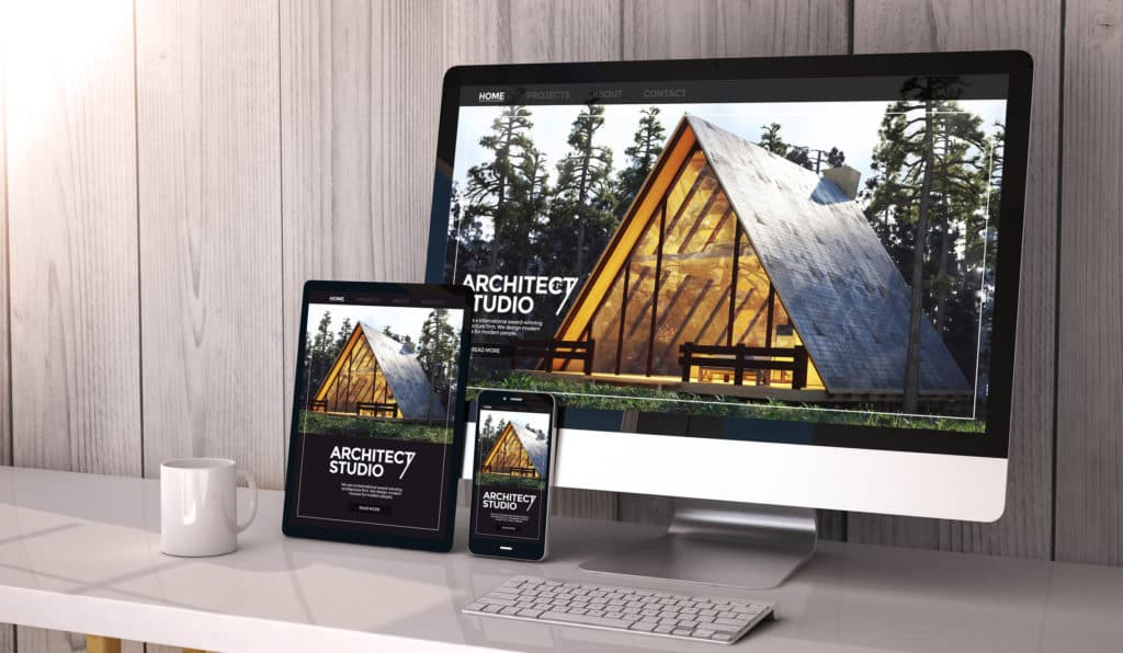 real estate website on multiple screens