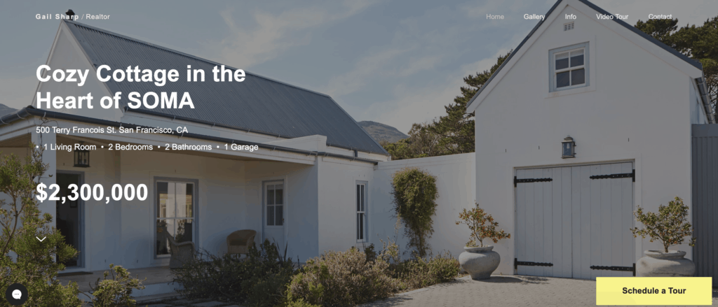 wix single property website template