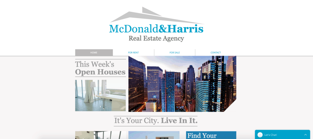 wix realty site website template